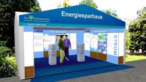 Energiesparzelt des Energiereferats